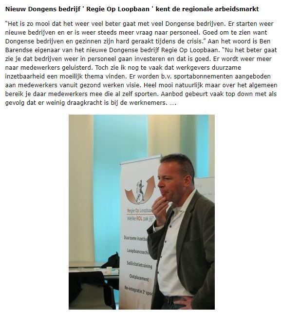 Interview  Dongenhomespot met Ben Barendse
